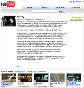 YouTube site created for event (screen-grab).