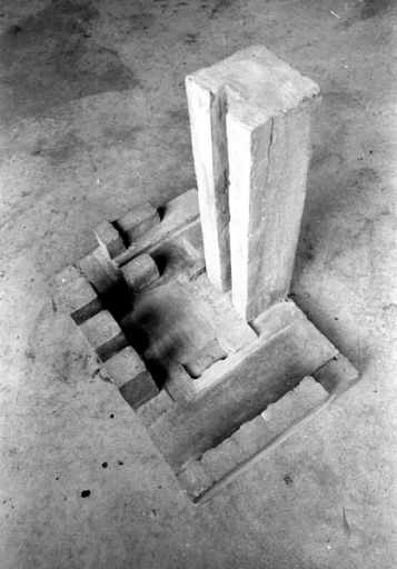 Site model, scale 1:200. Reinforced concrete.