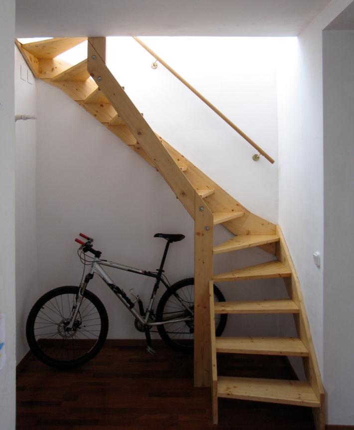 Stair connecting both levels